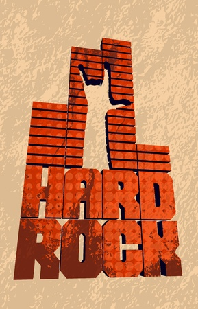 Cool grungy hard rock banner. Vector