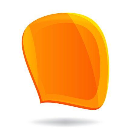 Cool orange distorted speech bubble Stock Vector - 15527317