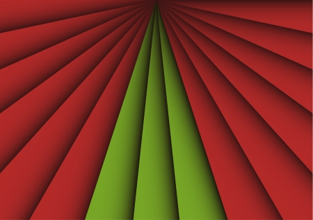 Abstract Christmas background with red and green stripes forming a new year tree. Conceptual vector background. Stock Vector - 15527118