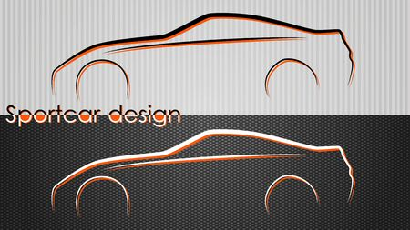 car outline: Two backgrounds with car silhouettes