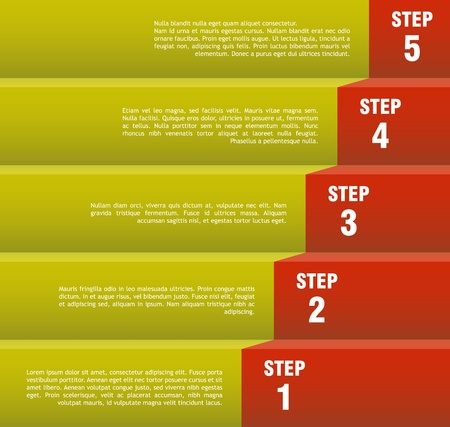 Step by step concept, Vector image