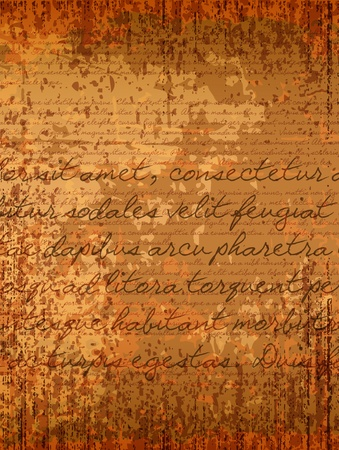 old parchment background with hand written text Stock Vector - 15527805