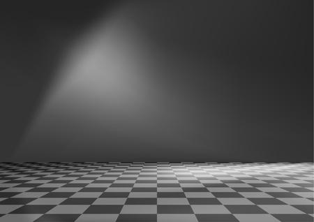 schwarz weiss kariert: Leerer Raum Hintergrund Illustration