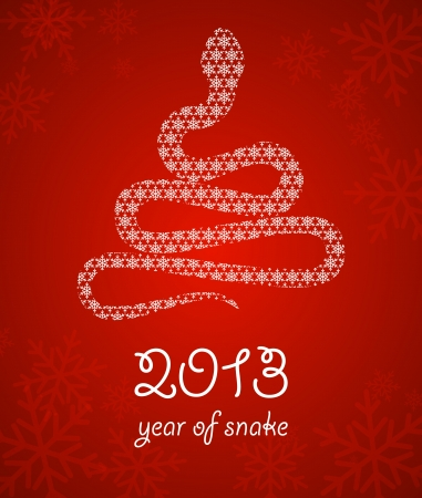 New year background with a stylized snake Vector