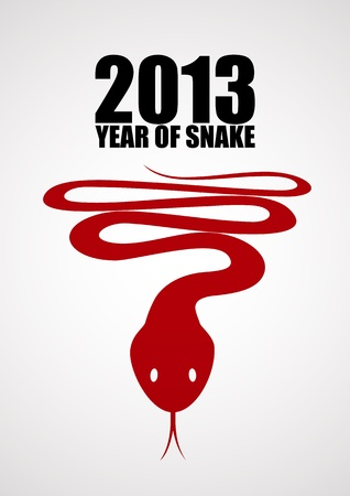 New year background with a stylized snake Stock Vector - 15527156