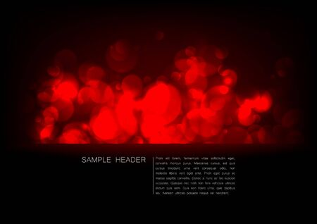 placeholder: Abstract background with chaotic bright red lights on black, and a placeholder below Illustration