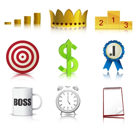 Set of detailed business concept icons Stock Vector - 15809989