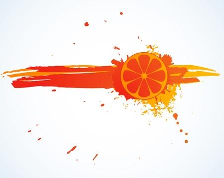 soda splash: Orange juice splash isolated on white
