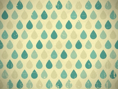 Retro rain drops seamless background. EPS10 vector pattern.Scratches and grungy elements on a separate layer.