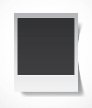 photo album page: Retro fotograf�a en blanco con un lugar negro para la imagen en una p�gina de �lbum de fotos. EPS10 vector