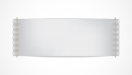 Vector realistische white label isoliert EPS10 image