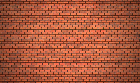 brick wall: Vector realistic red brick wall, background. Illustration