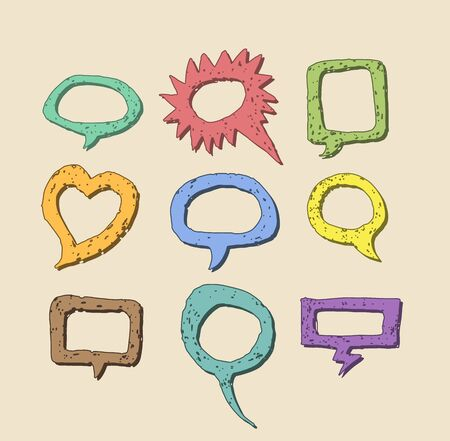 Cartoon style speech bubbles. Vector image. Vector