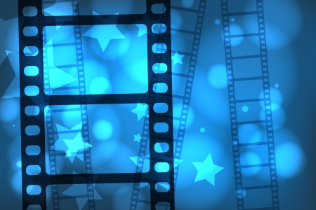 Abstract background with a celluloid movie film Vector