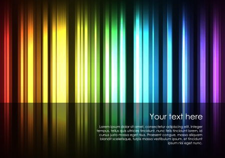 Abstract glowing stripes of different colors form the full spectrum of colors background. Vector