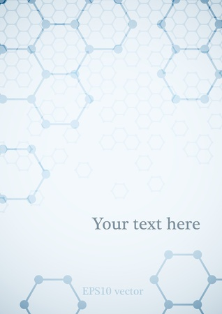 Science background with molecular structure medical background.