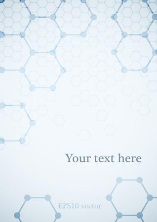 biologia molecular: Ciencias fondo con el fondo m�dico estructura molecular.