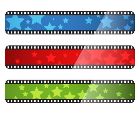 Horizontal movie film style stripes for cinema advertising and web site decoration Stock Vector - 17628460