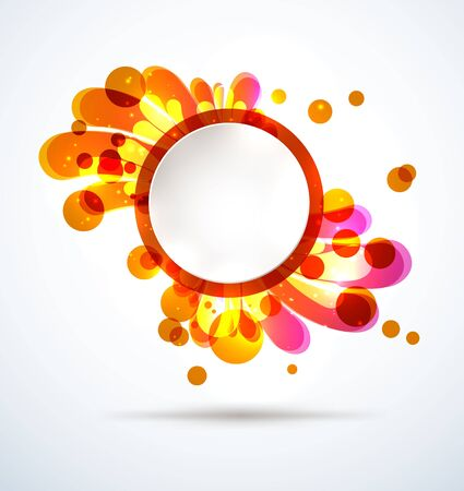 Abstract bright splash with a round placeholder Stock Vector - 17628745