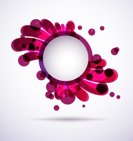 placeholder: Abstract purple splash with a round empty placeholder isolated Illustration