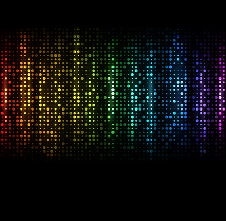 Abstract spectrum dark background with colored sparkles   Vectores