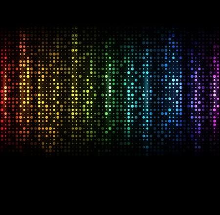 fiestas discoteca: Espectro fondo abstracto oscuro con destellos de colores Vectores