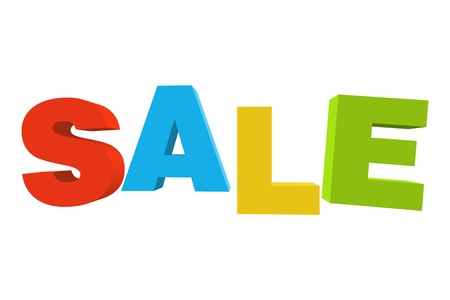 Sale text made of colored letters  Vector image  Vector