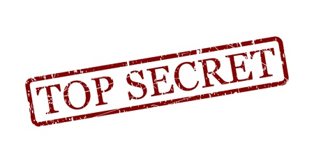 secret information: Simple top secret red stamp in a frame isolated on white  Vector image