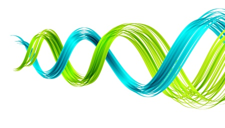 dna: Abstract background with two twisted waves
