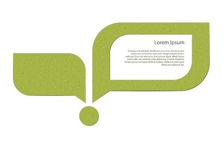 sprout growth: Abstract image of a young sprout and a speech bubble with a placeholder