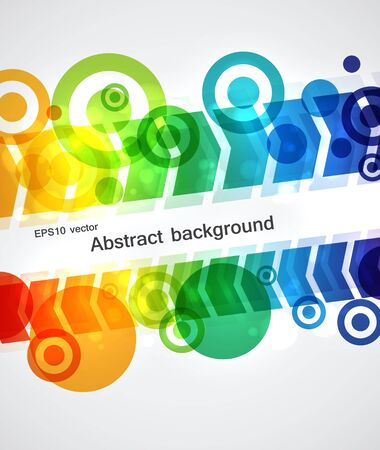 Abstract background with colorful arrows and circles Stock Vector - 19877501