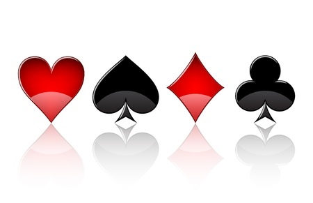 playing card: Set of four icons of card suits