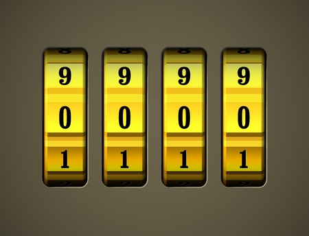 code lock: Realistic code lock  EPS10 vector