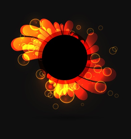 Abstract fiery background on black Stock Vector - 19855448