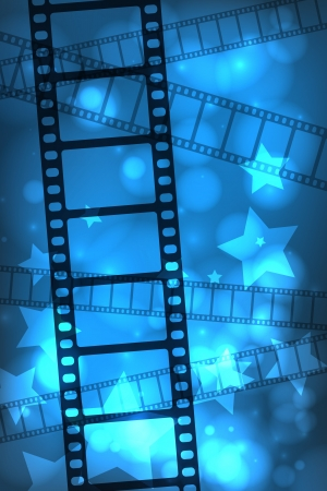 Abstract movie film background Illustration