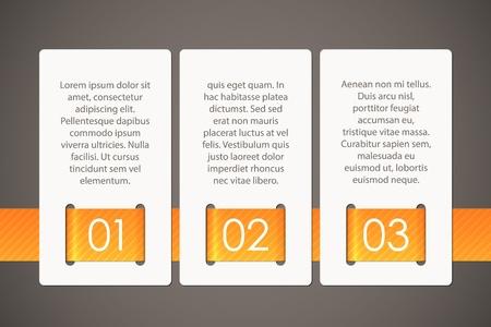 Drie kaarten samen met een lint, EPS10 vector achtergrond gehouden