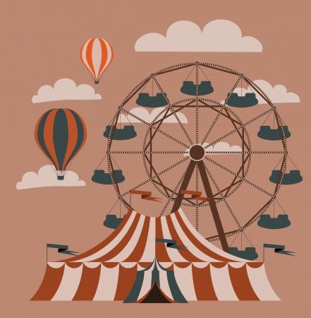 circo: Imagen del vector imagen justa Retro Vectores