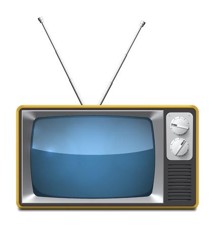 고립 된: 흰색 EPS10 이미지에 고립 현실적인 벡터 TV 세트