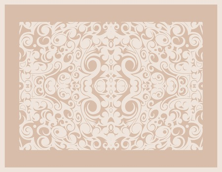 vintage beige pattern frame, vector graphic image Stock Vector - 22562152