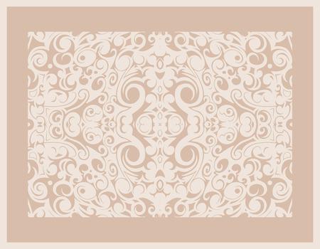 vintage beige pattern frame, vector graphic image Stock Vector - 22562152