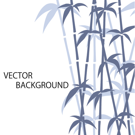 vector bamboo silhouette background isolated over white Vector