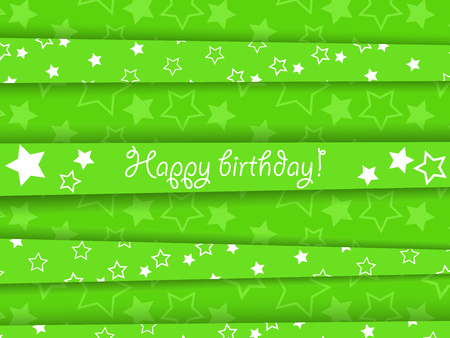 Vector green birthday card with stars, EPS10 Stock Vector - 22562213