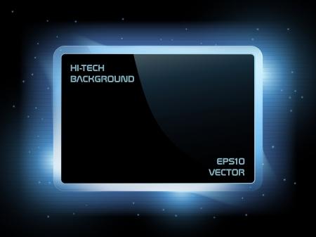 こんにちはハイテク未来的な画面の背景には、EPS10 ベクトル