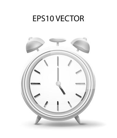 ébredés: vektor 3d ébresztőóra elszigetelt, EPS10 kép
