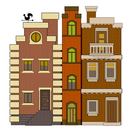 old fashioned: old fashioned houses