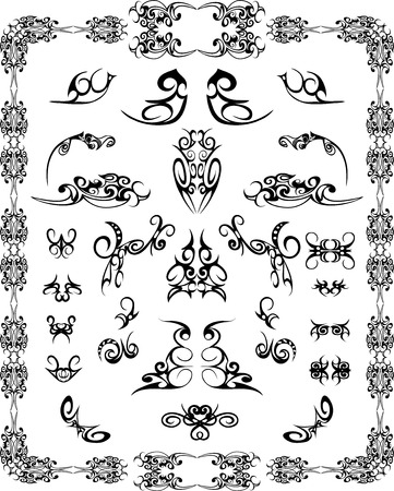 set of design elements and page decoration Stock Vector - 23228486