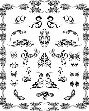 filigree: set ontwerpelementen en pagina decoratie