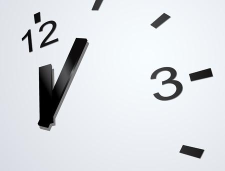 primer plano cara: reloj vector de cerca