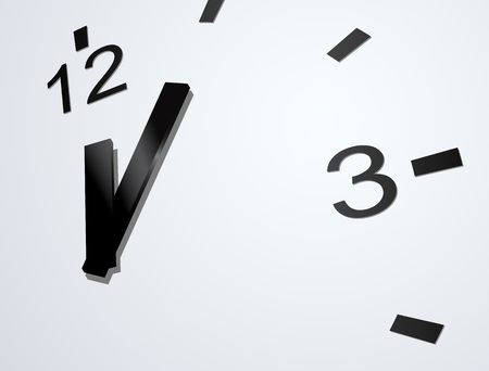close up face: vector clock face close up