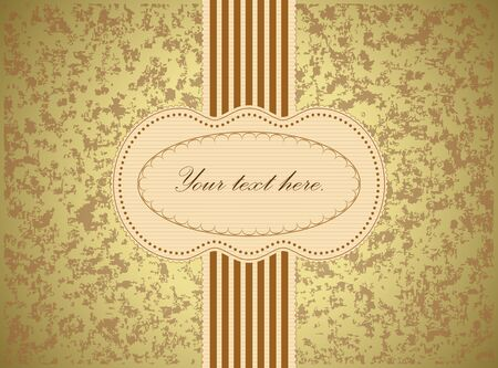 chocolate box: Vintage text frame